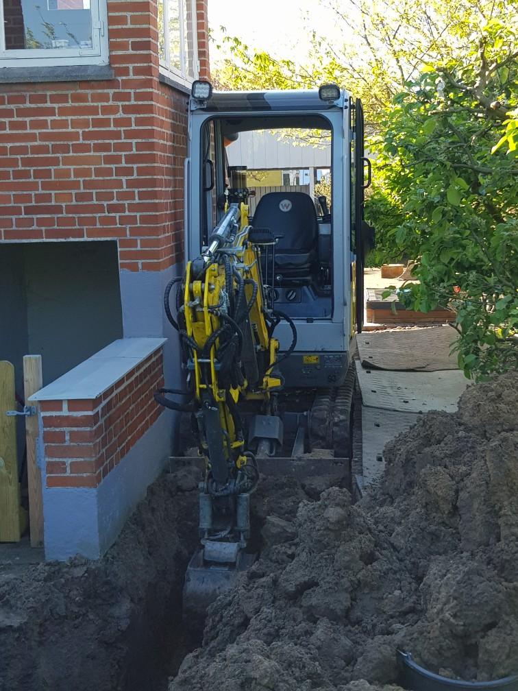 gravearbejde, anlægsarbejde, omfangsdræn